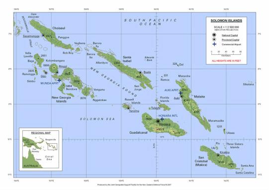 Location - Solomon Islands
